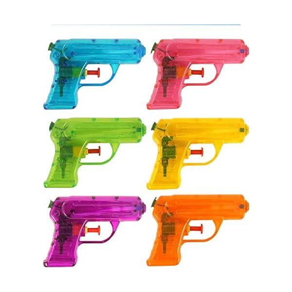 PK 6 Pistole ad Acqua da 12 cm, Regalo per Feste di Compleanno e Feste di Ragazzi e Ragazze 1 spesavip