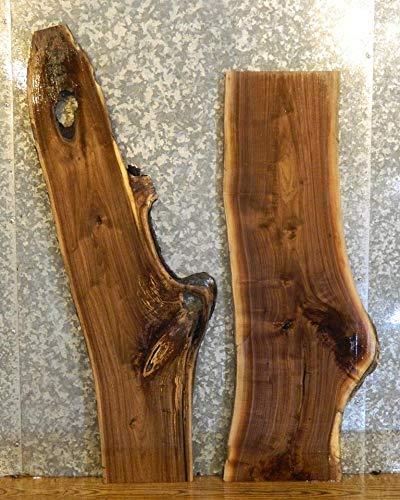 2  Natural Edge Rustic Sofa/Side Table Top Black Walnut Wood Slabs T: 1  1/4u0027u0027, W: 15 3/8u0027u0027, L: 47 13/16u0027u0027   1646 1647     Amazon.com