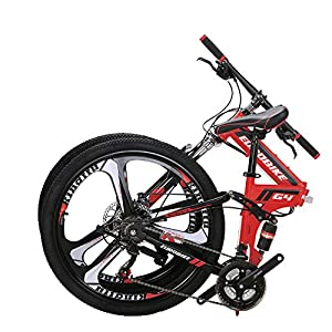 OBK G4/G6 26″ Full Suspension Folding Mountain Bike 21 Speed Bicycle Men or Women MTB Foldable Frame