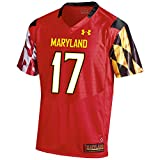 Under Armour NCAA Maryland Terrapins FG204190B64 Childrens Official Sideline Jersey, Large, Red