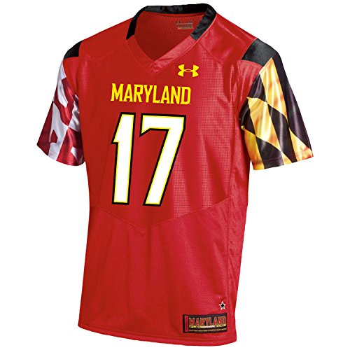 Under Armour NCAA Maryland Terrapins FG204190B63 Childrens Official Sideline Jersey, Medium, Red