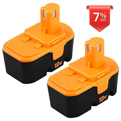 18v Battery for Ryobi 1.5Ah One Plus P100 P101 ONE+ ABP1801 BP1803 BPP1820 Cordless Power Tools 2 Packs