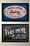 Hunger Games Poster Set - Mellark Bakery & The Hob - Scenes From District 12