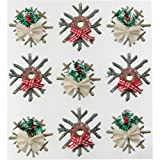 Jolee's Boutique Dimensional Stickers, Wooden Snowflakes
