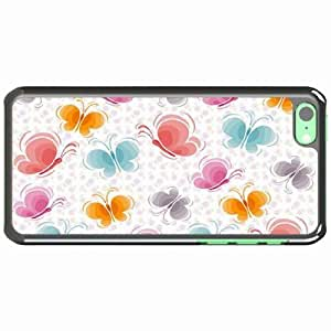Customized Back Cover Case For iPhone 6 plus 5.5'' Hardshell Case, Black Back Cover Design Butterfly Personalized Unique Case For iPhone 6 plus 5.5''