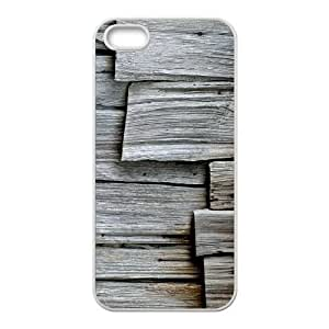Gray Wood iPhone 5 5s Cell Phone Case White phone component RT_326085
