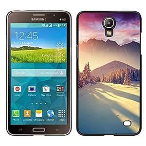 // PHONE CASE GIFT // Duro Estuche protector PC Cáscara Plástico Carcasa Funda Hard Protective Case for Samsung Galaxy Mega 2 / Snow Winter Mountains Sunlight Bright /