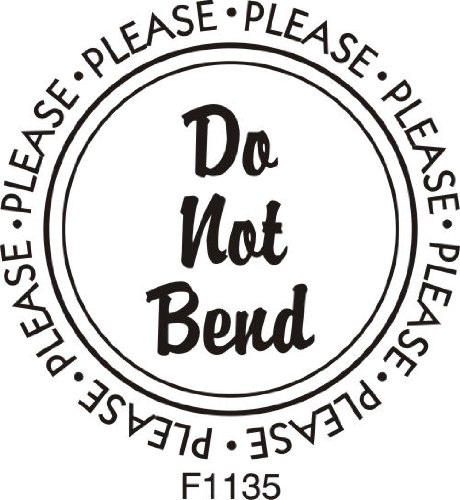 Do Not Bend Rubber Stamp By DRS Designs