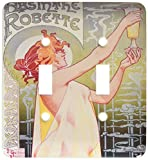 3dRose LLC lsp_149289_2 Vintage Absinthe Robette French Wine Advertising Poster Double Toggle Switch