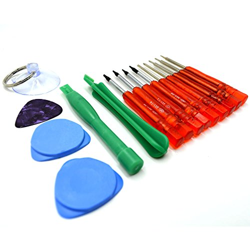 Acentix® - 15 in 1 Repair Opening Tools Kit Screwdriver Set For iPhone 3,3GS,4,4S,5,5S,6 iPad 1,2,3,4 iPod iTouch PSP NDS, HTC, BLACKBERRY, NOKIA & SAMSUNG ()