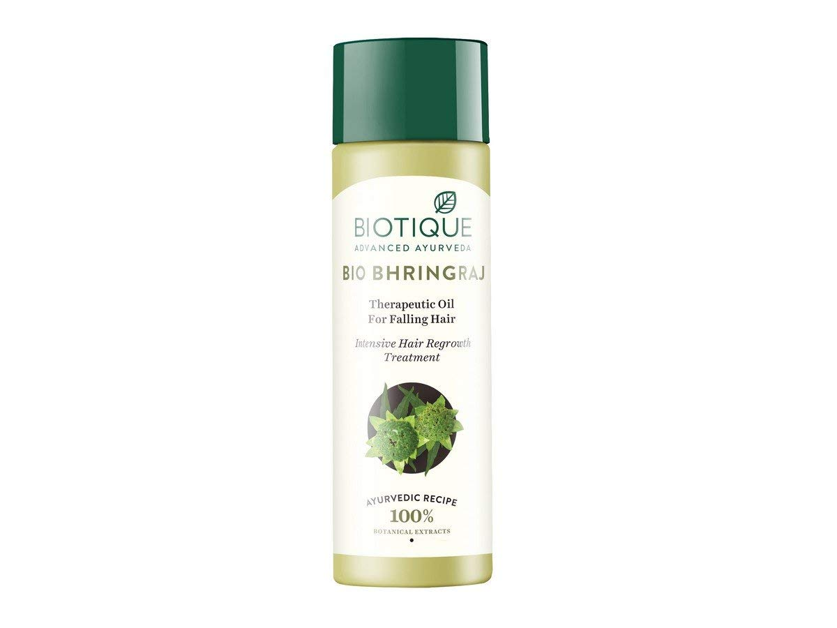 Biotique Bio Bhringraj Therapeutic Oil for Falling Hair - 120ml/ 1Pack I Supports Normal Hair Growth I Helps Repair Damaged Hair