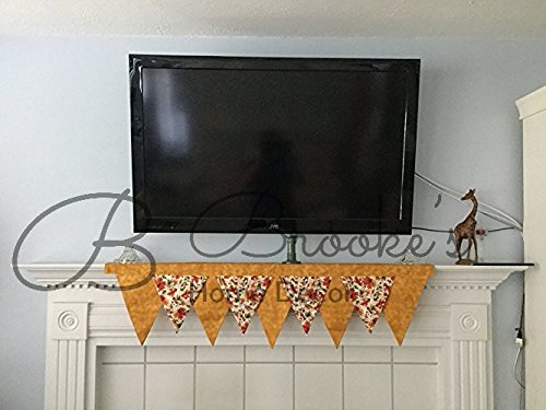 Fall Leaves Mantel Scarf (Mantels Fall Fireplace)