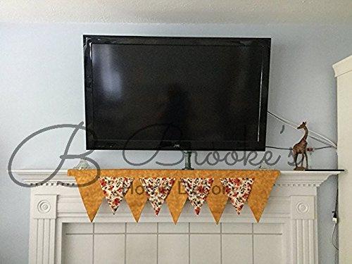 Fall Leaves Mantel Scarf (Fireplace Mantels Fall)
