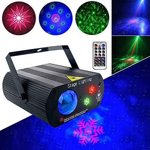 Party Lights Disco DJ Lights Stage Lights 2 Lens 1 RGB Ball XinChen With Remote Control Sound Activate LED Projector Christmas Decoration Gift Birthday Wedding Thanksgiving KTV Bar
