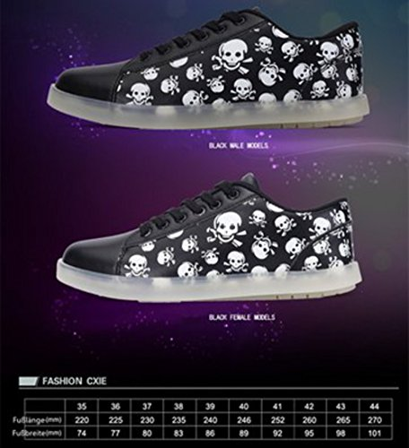 (Present:kleines Handtuch)JUNGLEST® Farbe Nacht Licht Leuchtend Mode Sportschuhe Freizeitschuhe Outdoorschuhe Laufschuhe Schuhe Sneaker f Schwarz