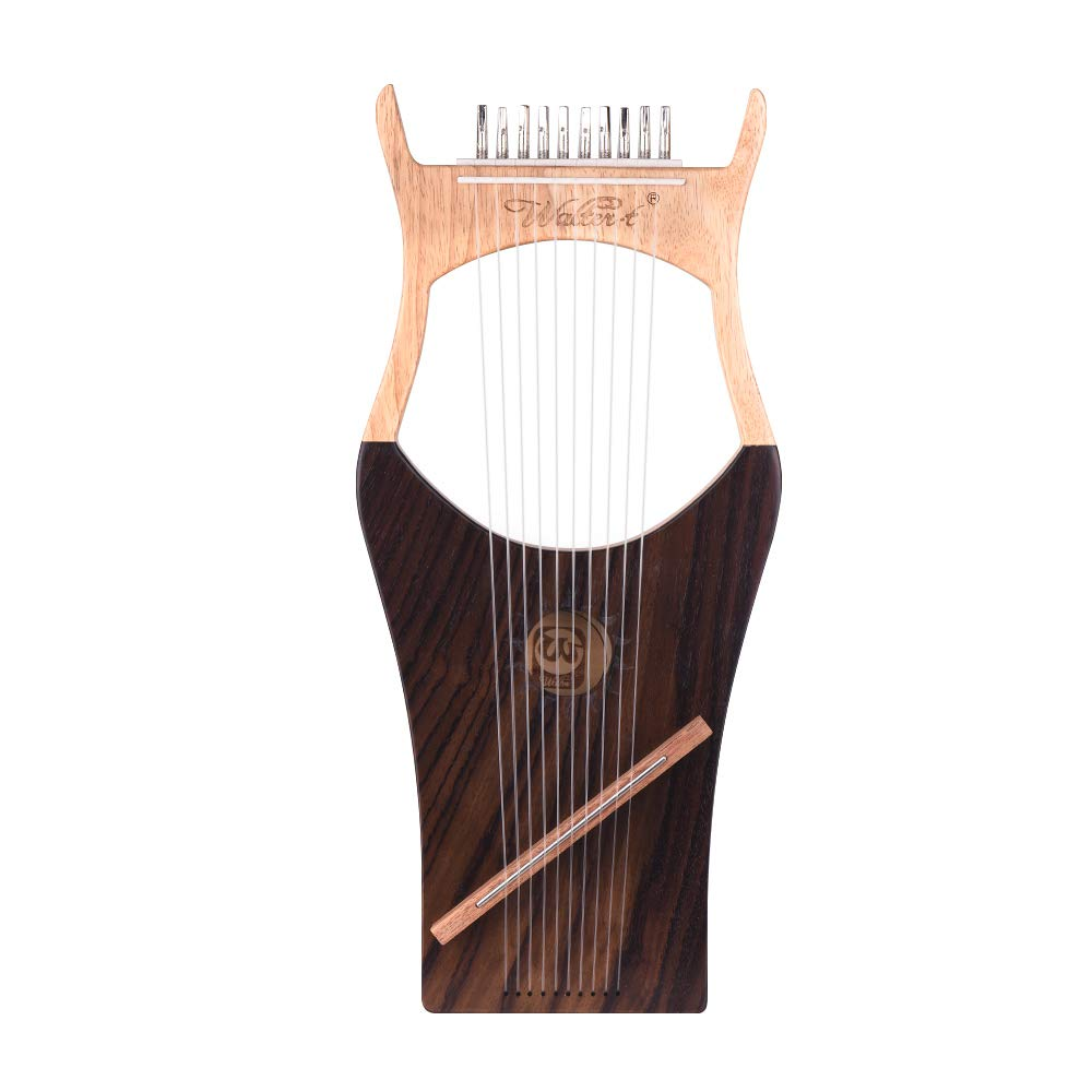 Muslady Harps Walter.t 10-String Wooden Lyre Harp Nylon Strings Spruce Topboard Beech Wood Backboard String Instrument with Carry Bag by Muslady