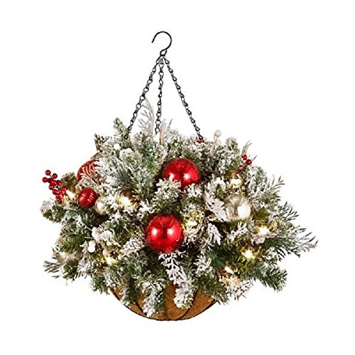 Frosted Hanging Basket With LED Lights