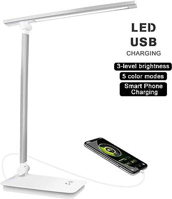 Lámpara de escritorio LED, lámpara de mesa LED regulable, control ...
