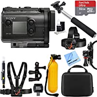 Sony HDR-AS50/B Full HD Action Cam + 32GB Outdoor Adventure Mounting Bundle
