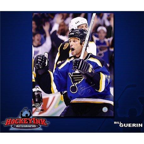 (Autographed Guerin Photograph - 16 x 20 - Autographed NHL Photos)