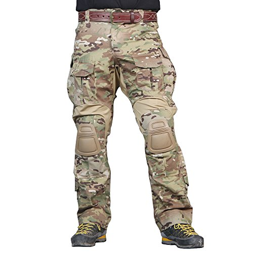 IDOGEAR EmersonGear Men G3 Multicam Combat Pants with Knee Pads Airsoft Hunting Military Paintball Tactical Camo Trousers (XL - 36'' Waist)