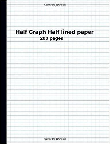 amazon com half graph half lined paper 200 pages 9781973836636