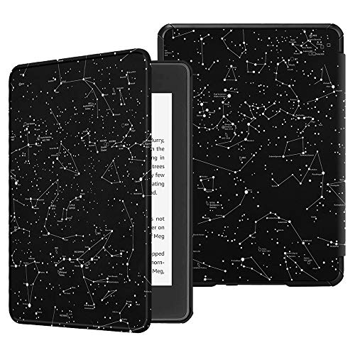 Fintie Slimshell Case for All-New Kindle Paperwhite (10th Generation, 2018 Release) - Premium Lightweight PU Leather Cover with Auto Sleep/Wake for Amazon Kindle Paperwhite E-Reader, Constellation