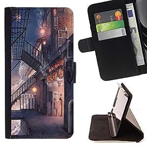 King Case - FOR Apple Iphone 6 PLUS 5.5 - ?what is moral - Prima caja de la PU billetera de cuero con ranuras para tarjetas, efectivo Compartimiento desmontable y correa para la mu?eca