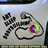 Best Gorilla Decals Bodybuilding Books - EAT SLEEP BODYBUILDING Vinyl Decal Sticker B Review