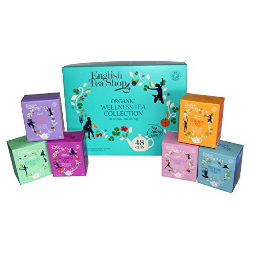 - English Tea Shop Organic Wellness Tea Collection, 48 Sachet Tea Bags