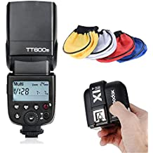 Godox TT600S Thinklite GN60 Flash Built-in 2.4G Wireless X System for Sony + Godox X1T-S TTL 1/8000S HSS Remote Trigger Transmiiter + Universal Cloth Soft Bounce Diffuser Softbox