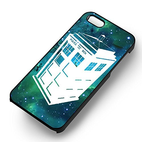 Tardis Green Nebula Mansion pour Coque Iphone 6 et Coque Iphone 6s Case (Noir Boîtier en plastique dur) D1Y7AO