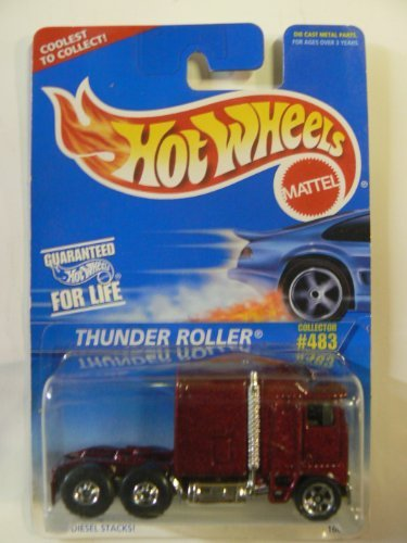 "Hot Wheels Thunder Roller on ""Coolest to Collect"" Card Variant. Collector #483"