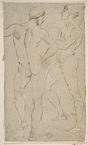 "Two nude figures Poster Print by Copy after Raphael (Raffaello Sanzio or Santi) (Italian Urbino 1483 ""1520 Rome) (18 x 24)"
