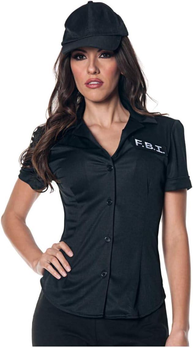 Horror-Shop Blusa de Disfraz del FBI XL: Amazon.es: Juguetes y juegos