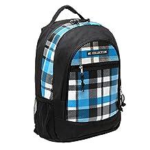 18 Blue Plaid Children Book Bag Backpack Kids School Shoulder Bag