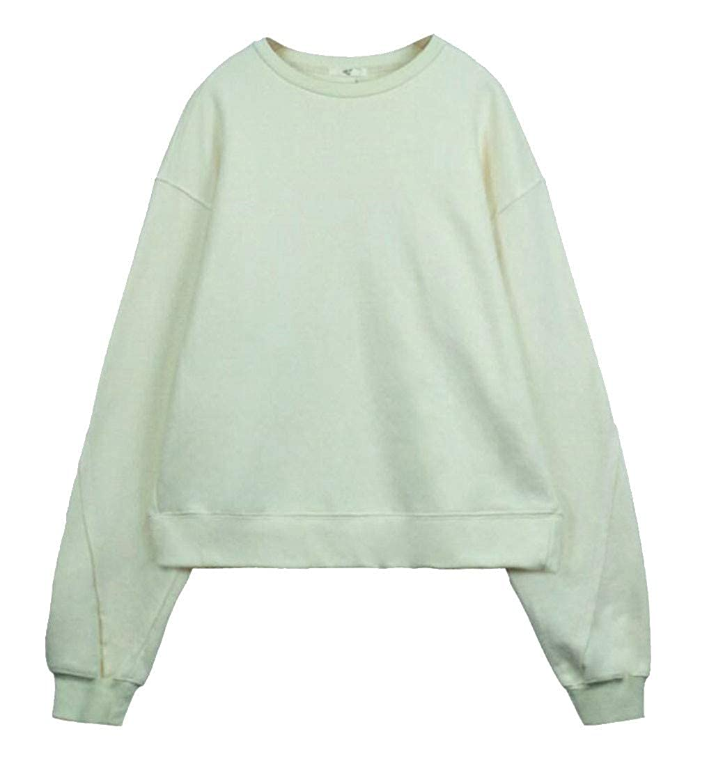 Macondoo Womens Trendy Pullover Wool Lined Oversize Sweatshirts Jacket
