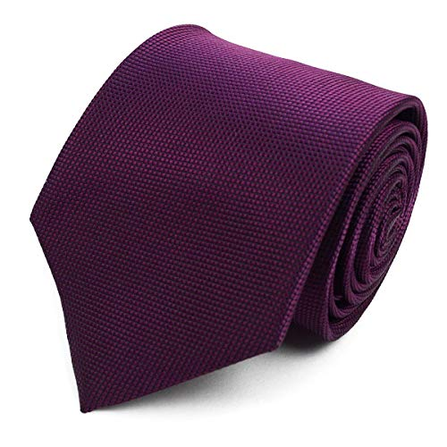 Mini Dotted Micro Fiber Poly Tie (Plum)
