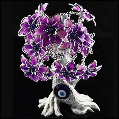 Lightahead� EVIL EYE TURKISH FLOWER TREE FENG SHUI PROTECTOR BLUE CHARM AS GIFT OF GOOD LUCK & PROTECTOION