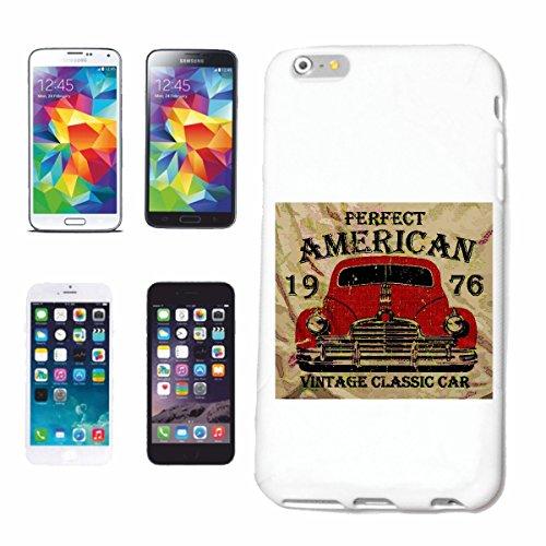 """cas de téléphone iPhone 7S """"PERFECT AMERICAN VINTAGE CLASSIC CAR RACE RACING FORMULA MOTOR SPEEDWAY ÉQUIPE SPEED CLASSIC AMERICAN"""" Hard Case Cover Téléphone Covers Smart Cover pour Apple iPhone en bla"""