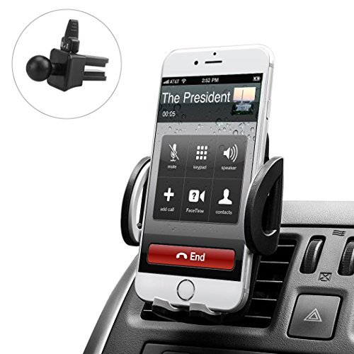 Budget&Good Universal Cell Phone Car Vent Mount Cradle Holder Compatible with iphone SE 7 7 Plus 6s 6 Plus 6 5s 5 4s 4 Nexus Sony Nokia and More (Black)