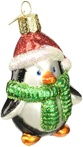 Old World Christmas Ornaments: Playful Penguin Glass Blown Ornaments for Christmas ()