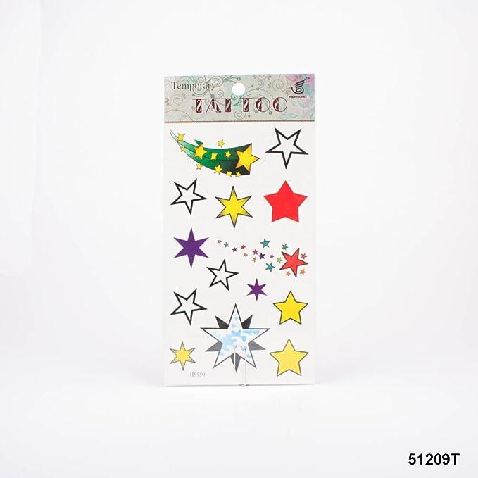 Tatuajes estrellas y estrellas fugaces en diferentes colores ...