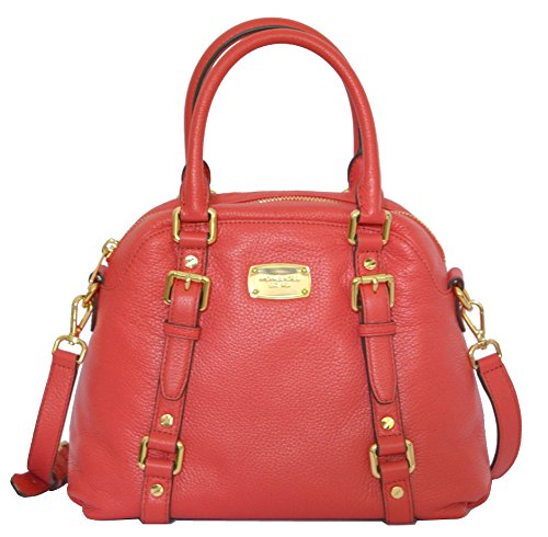 Michael Kors Bedford MD Bowling Satchel Leather (Medium Leather Bowling Bag)