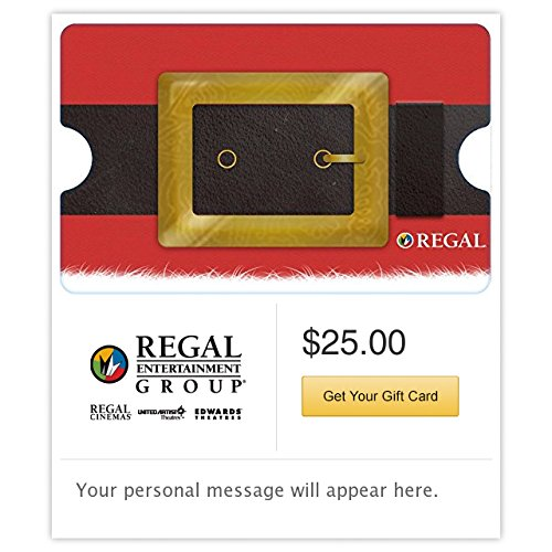 - Regal Cinemas Santa Belt Gift Cards - Email Delivery