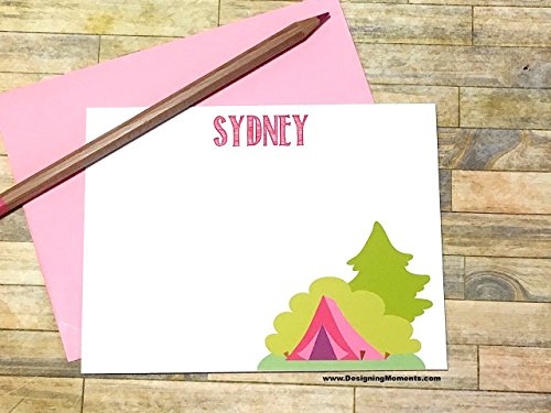 Camp Note Cards - Sleepaway Camp Stationery Cards - Camping Trip Stationary - Notes from Camp - Smores over the Fire Cards (Over Stationary)