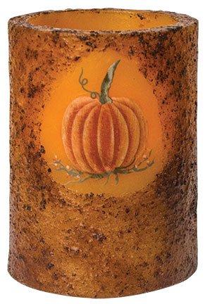 Heart of America Pumpkin Timer Pillar Burnt Mustard