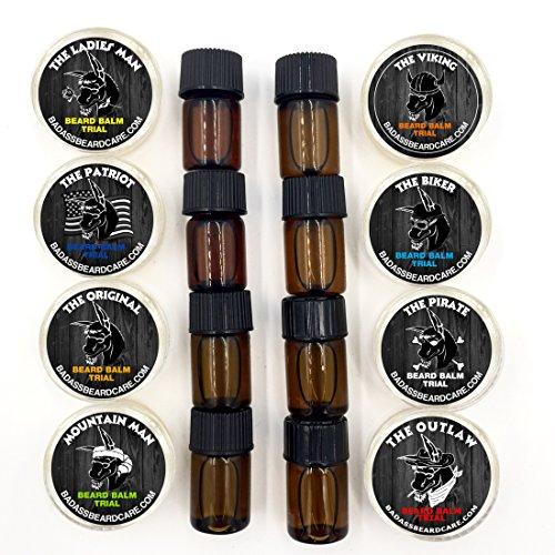 Badass-Beard-Care-Trial-Kit-For-Men-8-Packs-Trial-Sizes-of-Beard-Balm-amp-Beard