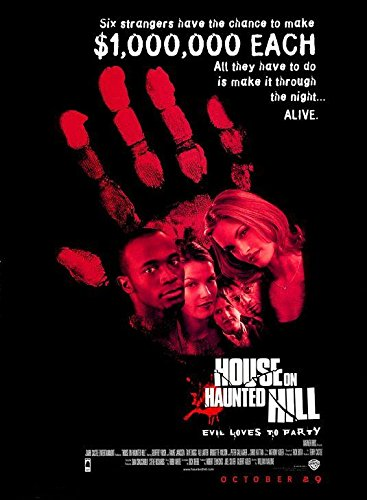 HOUSE ON HAUNTED HILL - 27x40 D/S Original Movie Poster One Sheet 1999 Taye Diggs