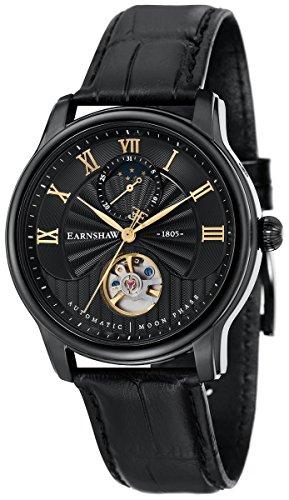 Thomas Earnshaw Mens The Longitude Moonphase Watch - Black/Black